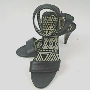 "Jessica Simpson Womens Black Ankle Strap 3"" Heel"